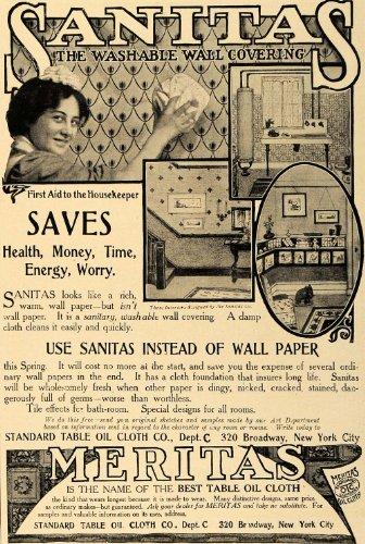 1906-ad-standard-table-oil-cloth-sanitas-washable-wall-original-print-ad