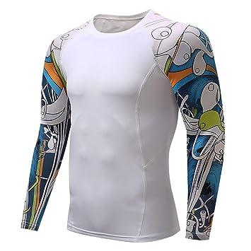 Amazon.com: Xlala - Camiseta de manga larga para hombre con ...