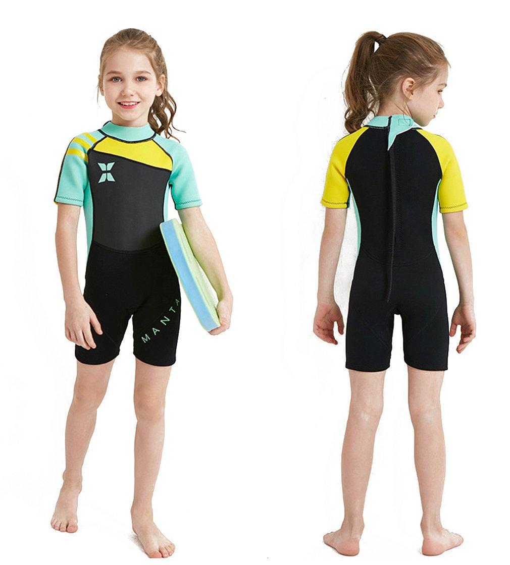 Tauchen Anzug Nassanz/üge 2.5mm Neopren Tauchanz/üge Badeanzug Surfen FMDD Kinder Eins St/ück Neoprenanzug Kurze /ärmel Tauchanz/üge,Schwimmen