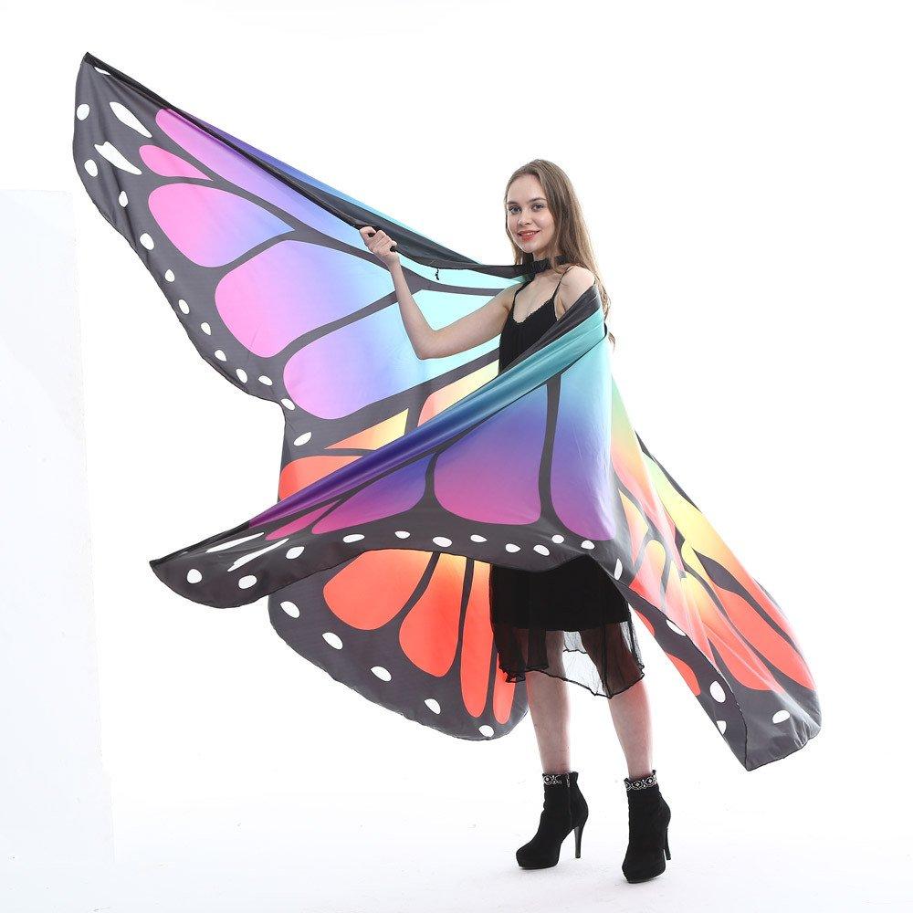 Amphia - Ä gypten Bauchflü gel Tanzkostü m Schmetterlingsflü gel Tanzzubehö r Keine Stö cke - Wasserdichte groß e Schmetterlingsflü gel der Lady Dance