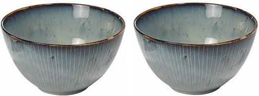 Keramik Graublau 15 cm Sch/üssel Nordic Sea