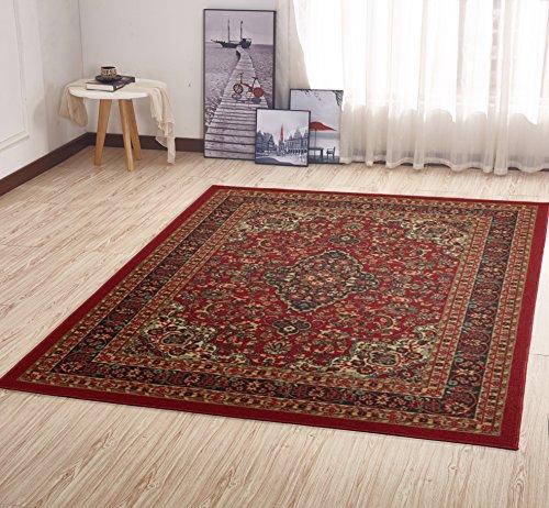 - Ottomanson Ottohome Persian Heriz Oriental Design with Non-Skid Rubber Backing, 60