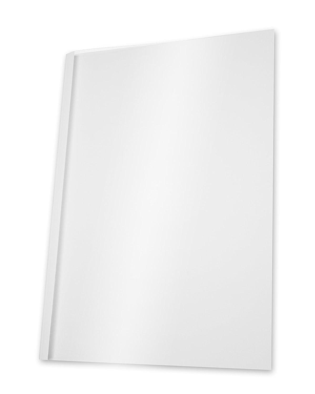 Pavo - Copertine per rilegatura a caldo, formato A4, larghezza dorso 3 mm per 11-30 fogli, 100 pz, colore: Bianco/trasparente Pavo Sales B.V 8003242