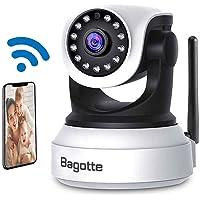 Cámaras IP Wifi, Camaras de Vigilancia Wifi Interior, Bagotte HD P2P Cámara de Seguridad con Visión Nocturna /Detección de Movimiento/Micrófono y Altavoz, para Seguridad Doméstica /Bebé/Mascotas.