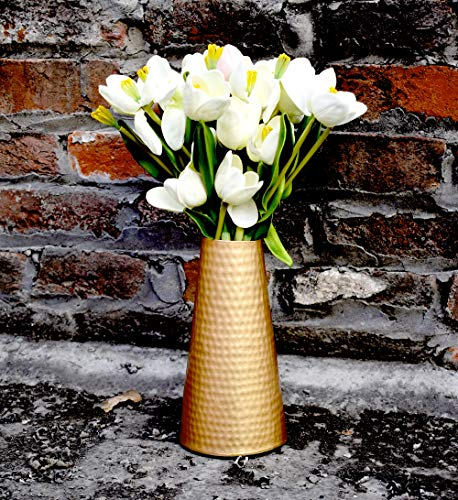 Handmade Golden Metal Flower Pot Vase for Home Decor Aadit Crreation