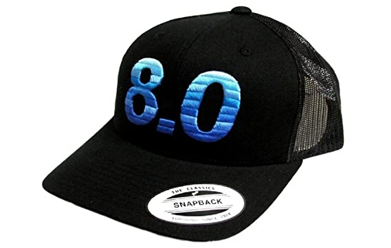 huge selection of 30673 882a1 Hooey 8.0 Black with Blue Snapback Cap