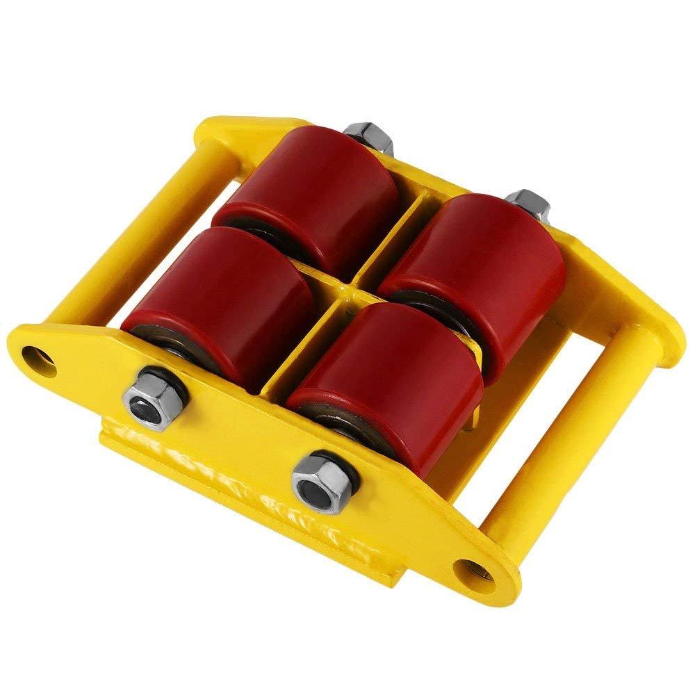 Dollies by Feiuruhf, Machinery Mover 6T 13200LB Capacidad Maquinaria Patines Industrial Maquina Mover 4 Rodillos Dolly Skate Roller con 360 Grados Rotación ...