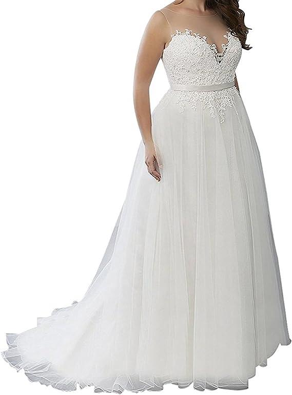 Slenyubridal Women S 2020 Plus Size Wedding Dresses Appliques Tulle Bridal Wedding Gown Amazon Ca Clothing Accessories,Steven Khalil Mermaid Wedding Dress