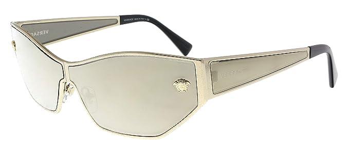 3fb3c350f0717 Amazon.com  Versace VE2205 Sunglasses 12525A-67 - Pale Gold Frame ...