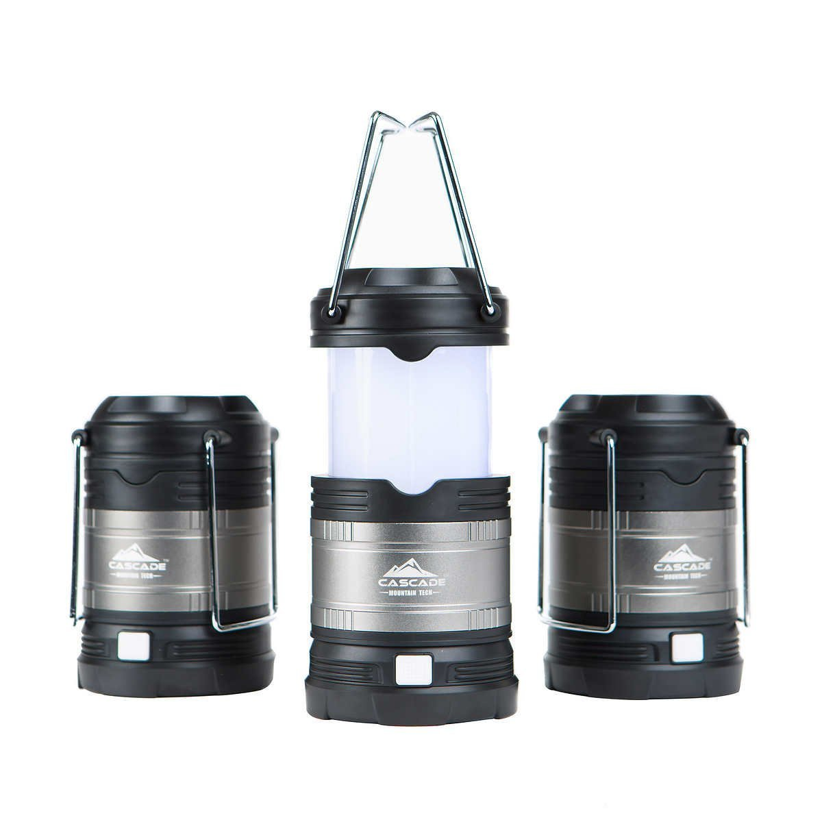 Cascade Mountain Tech Collapsible LED Lantern, Perfect Lighting for Camping, BBQ's and Emergency Light - 3 Pack Batteries Included ... by Cascade Mountain Tech