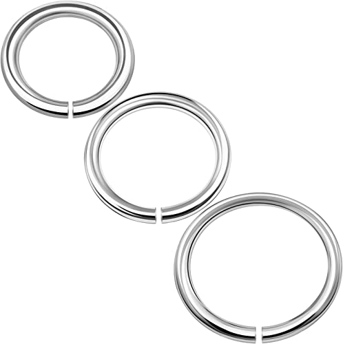 Surgical Steel Open Nose Ring Hoop 6mm 8mm or 10mm