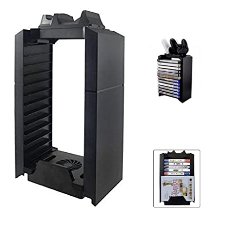 PS4 / PS4 Slim / PS4 Pro Game Storage Holder, 2win2buy 4 In 1 Play