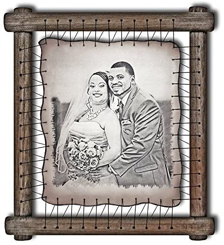 Ideas For Wedding Anniversary Gifts For Wife: 3rd Anniversary Leather Photograph Engraved In Real