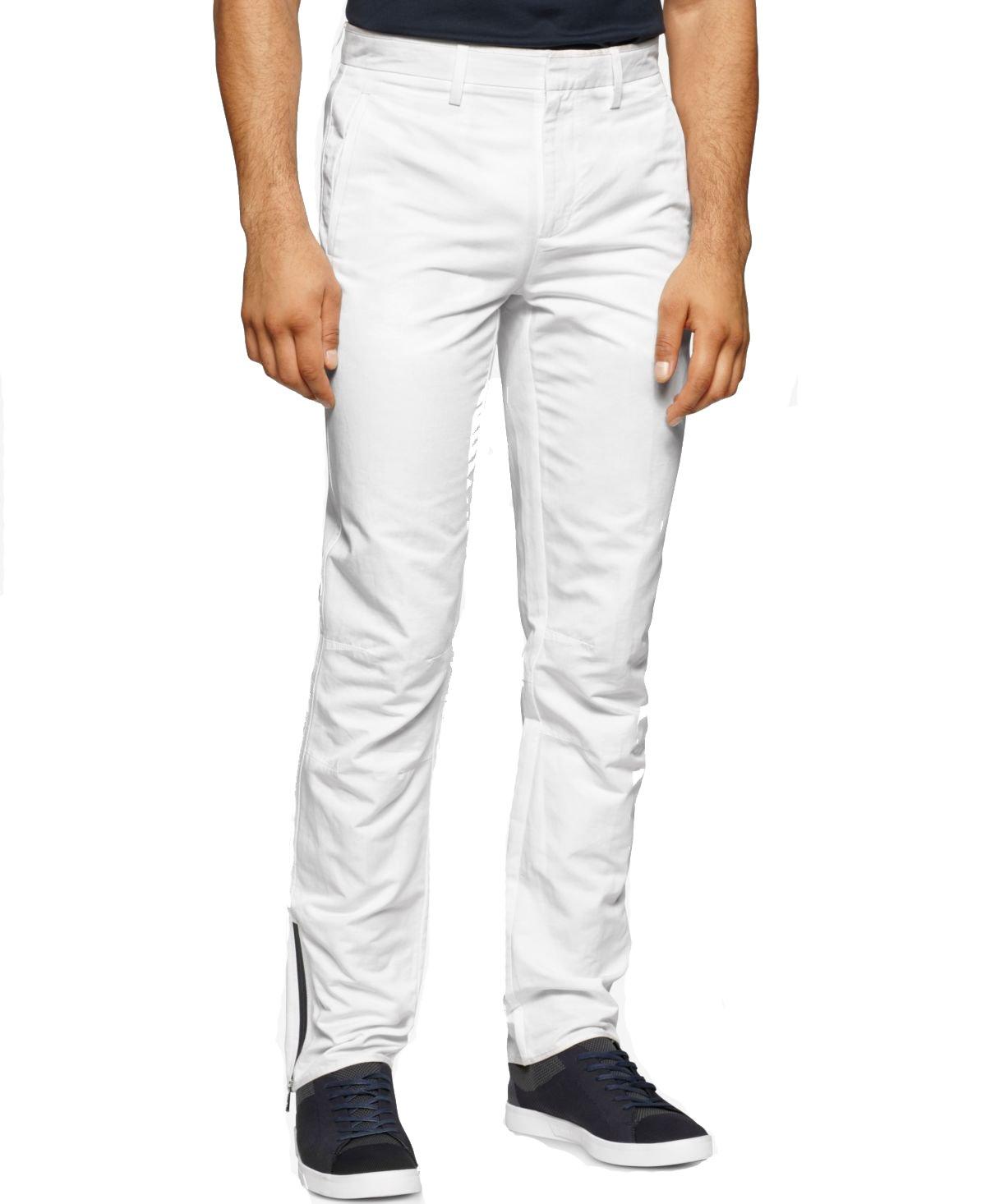Calvin Klein Men's Premium Dress Pant, White, 38W 32L