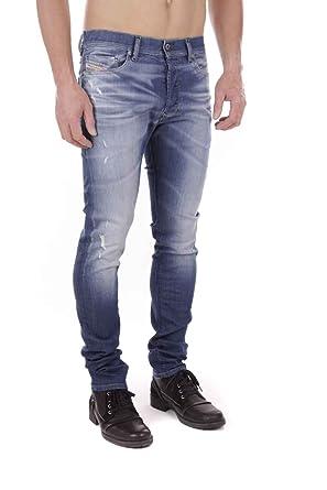 f4952b56 Diesel Tepphar 0607P_Stretch Men's Jeans Pants Slim Carrot (Blue, ...