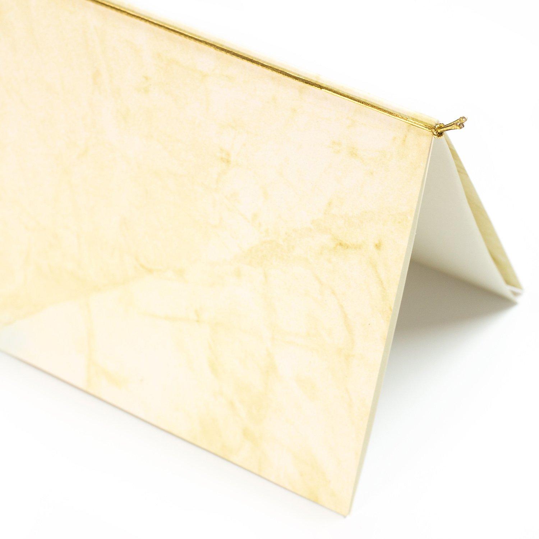 1000 St/ück TATMOTIVE PREMIUM Metallic Gummib/änder f/ür Einladungskarten Gold