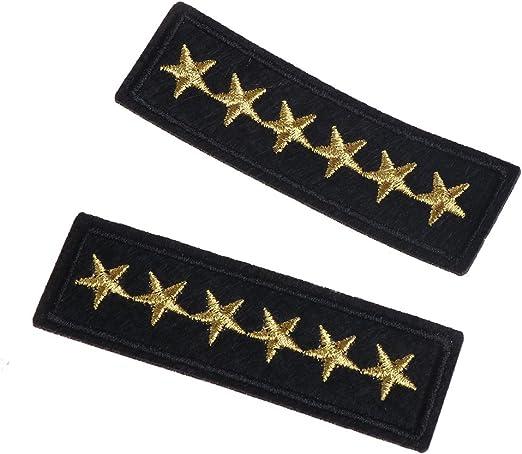 Parche Bordado De Rango Militar Star, Para Prendas De Vestir En ...