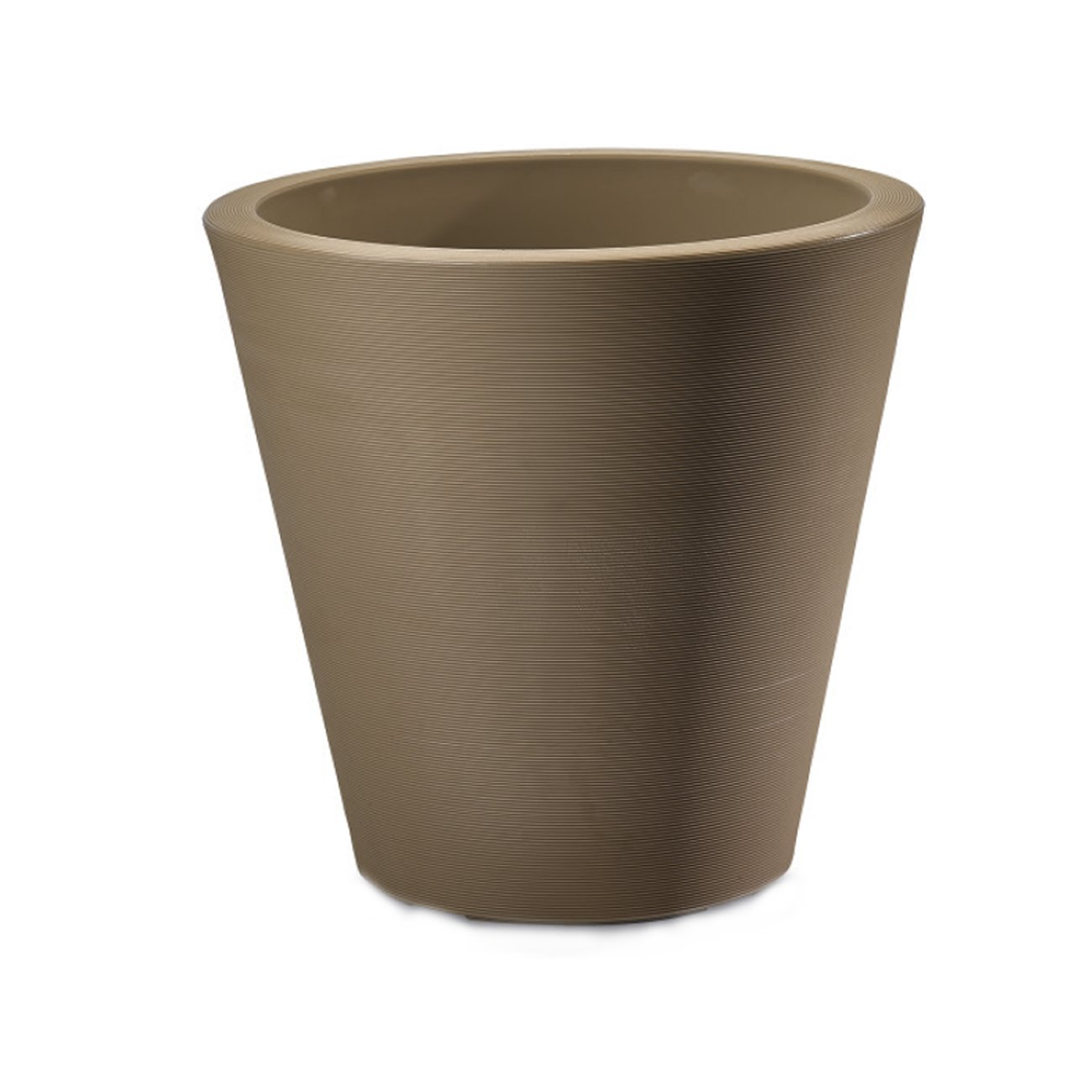 Crescent Garden Rotational Molded Madison Planter, 20'', Silt