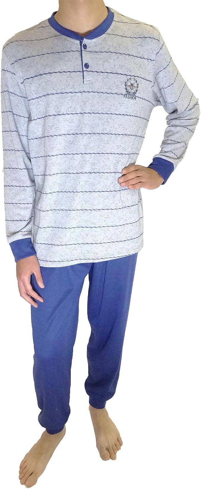 Mini kitten - Pijama de Caballero Hombre con Felpa de Algodon Camiseta Manga Larga y Pantalon Largo con puño/Ropa para Dormir Comodo.: Amazon.es: Ropa y accesorios
