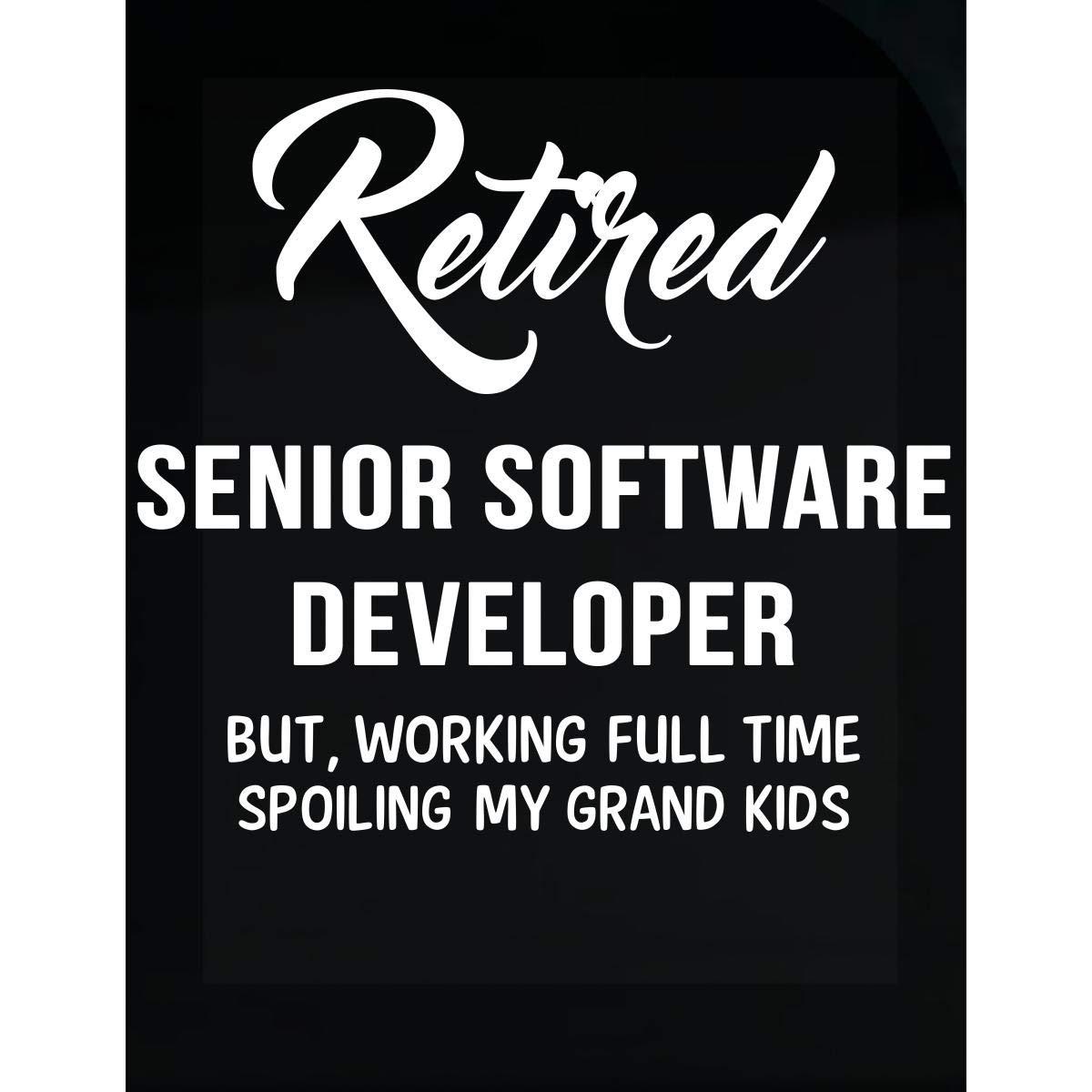 Inked Creatively Retired Senior Software Developer Spoiling Grand Kids - Sticker