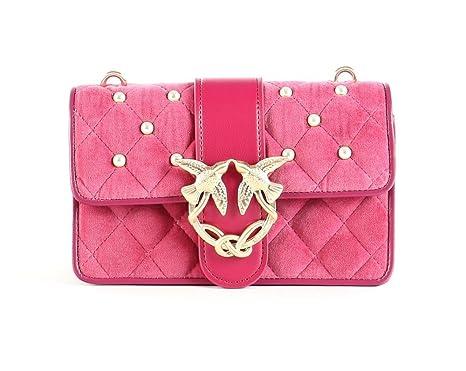 Pinko Handbags, Love Velvet Pearls Shoulder Bag