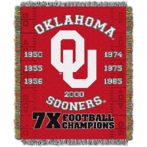 NCAA Oklahoma Sooners Commemorative Woven Tapestry Throw, 48