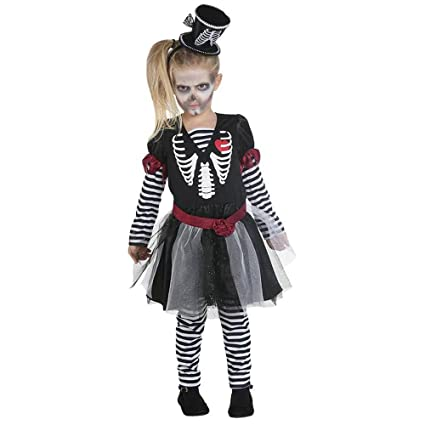 Rubies Esqueleto de Vestido - Disfraz para niña: Amazon.es ...