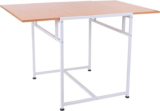 HOMCOM Mesa Plegable para Comedor Salón Mesa de Ordenador ...