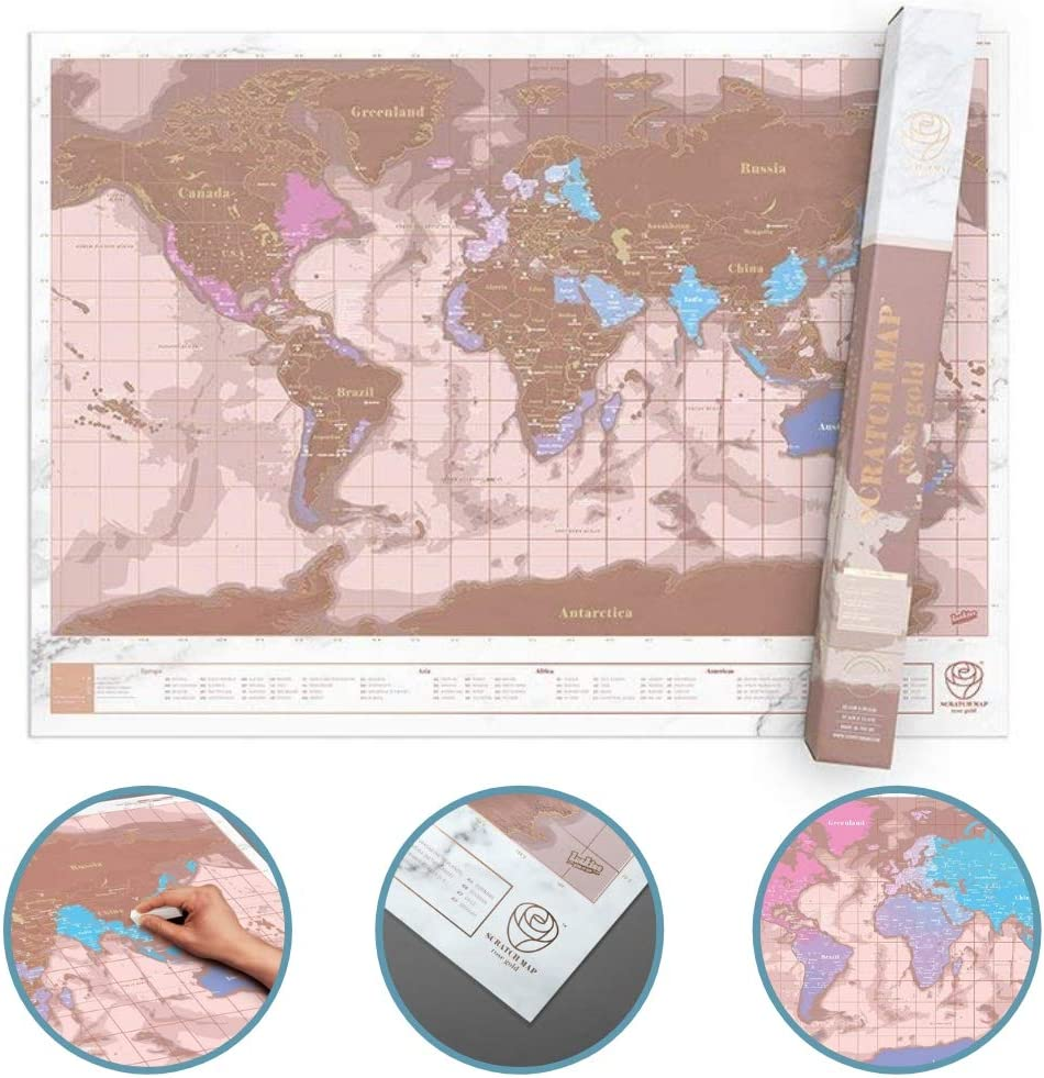 Luckies of London LUKRGS - Mapa del mundo para raspar: Amazon.es ...