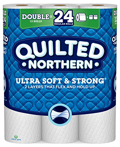 Quilted Northern Ultra Soft & Strong Toilet Paper, 12 Double Rolls, 164 2-Ply Sheets Per Roll (Toilet Paper Northern)