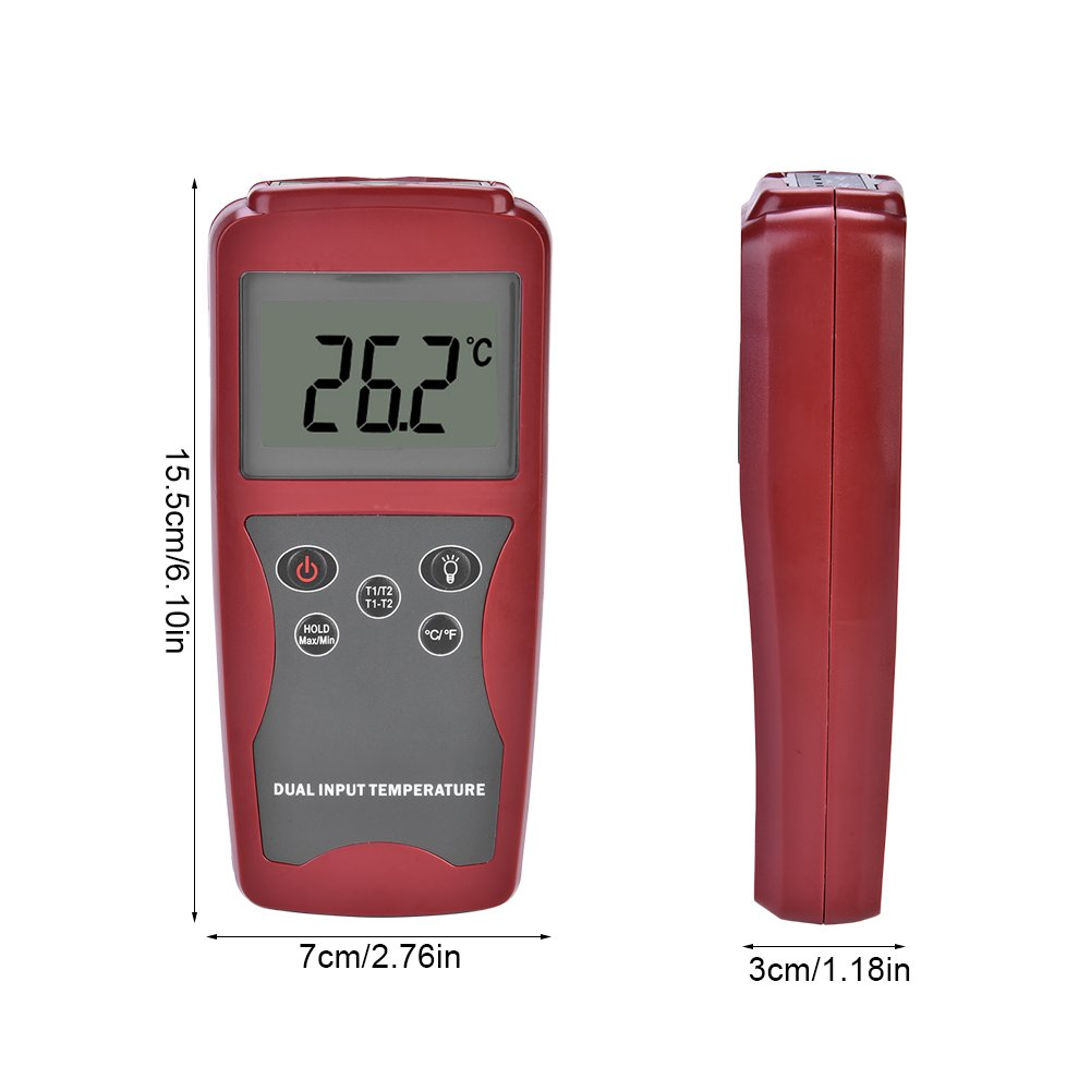 Amazon.com: DT821A LCD Backlight Display Digital K-Type Sensor Thermocouple Thermometer Temperature Meter Tester: Automotive