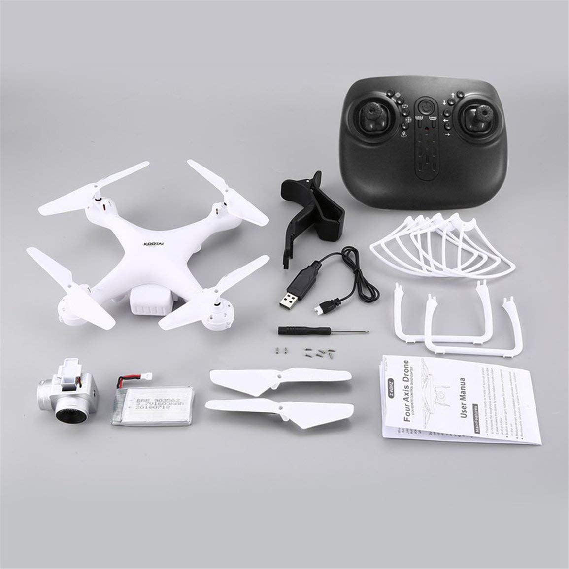 Fantasyworld UAV KOOTAI X180 2.4G FPV RC Quadcopter Drone con 720P HD Camera altitudine Tenere Headless modalità 3D-Flip 18mins Lungo Volo
