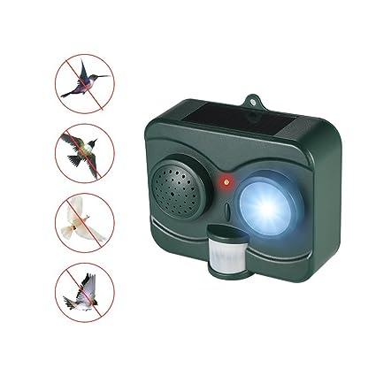 KANGLE Repelente De Pájaros Solar Ultrasónico Luz Infrarroja Intermitente Animal Drive Sensor De Movimiento PIR Y