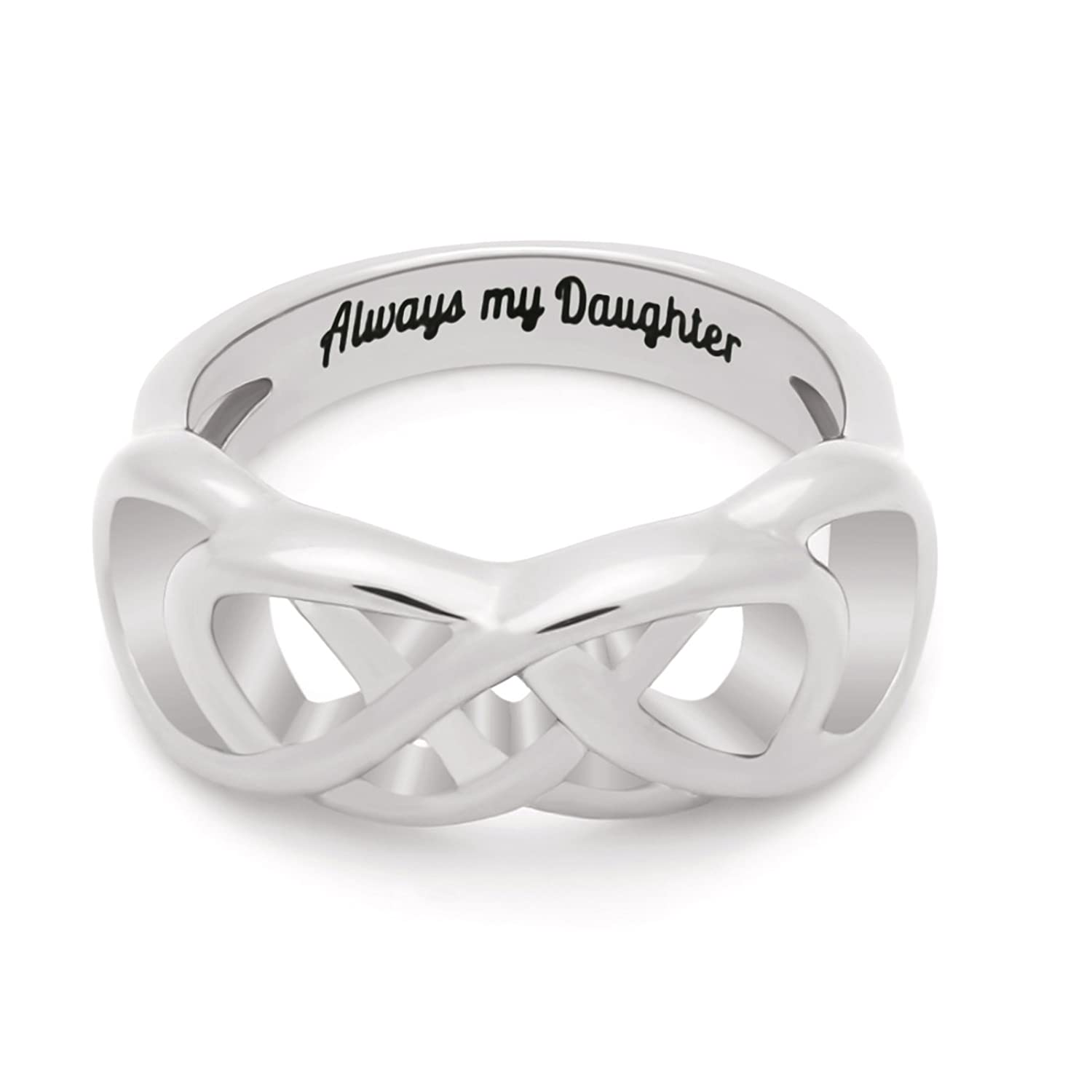 Amazon daughter ring infinity ring double infinity ring for amazon daughter ring infinity ring double infinity ring for daughter promise ring always my daughter engraved on simple infinity ring biocorpaavc Gallery