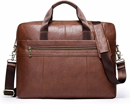 Messenger Bag Color : Brown Mens Leather Briefcase Crossbody Messenger Bag Tote Bag Briefcase Crossbody Bag