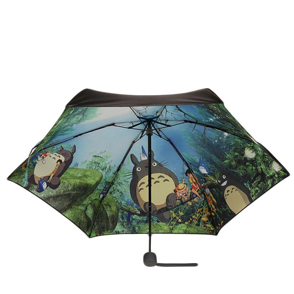 Rain's PanAnime My Neighbor Totoro Manual UPF Rain Windproof 5 Folding Umbrella