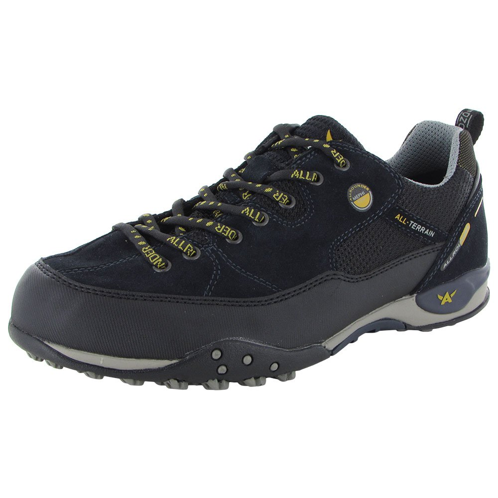 Allrounder by Mephisto Mens Tacco Tex Black Rubber/Ocean Suede