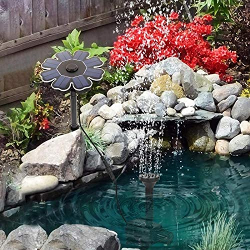 HYGJ 180 L/H Fuente de Agua Solar Bomba Estanque jardín Estanque sin escobillas Impermeable Fuente de Tierra: Amazon.es: Deportes y aire libre