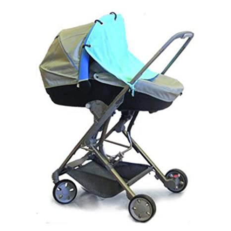 Highdas Parasol Protector solar de la cortina para cochecitos de bebé (azul cielo)
