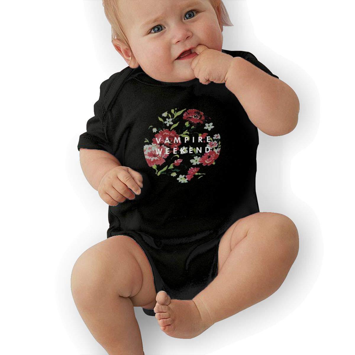 Reneesme Baby Infant Short Sleeve Romper Vampire-Weekend Black Bodysuit One-Piece Jumpsuit Outfit