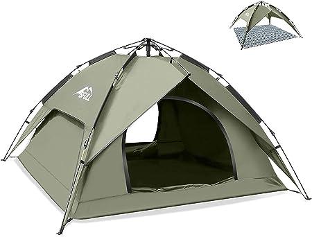 BFULL Tienda de campaña instantánea para 2-3 personas, refugios para el sol, impermeables, para mochileros, para camping, senderismo, actividades al ...