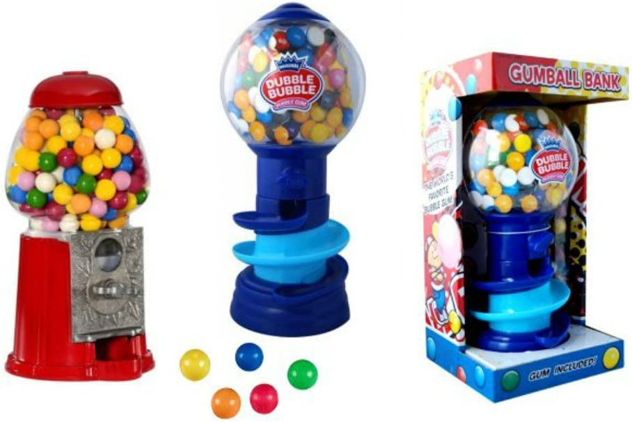 Máquina Expendedora de Chicles con Hucha + Chicles (80 gr.) Modelo a Elegir Golosinas. Juguetes y Regalos Baratos para Fiestas de Cumpleaños, Bodas, Bautizos, Comuniones y Eventos. (Clasica)