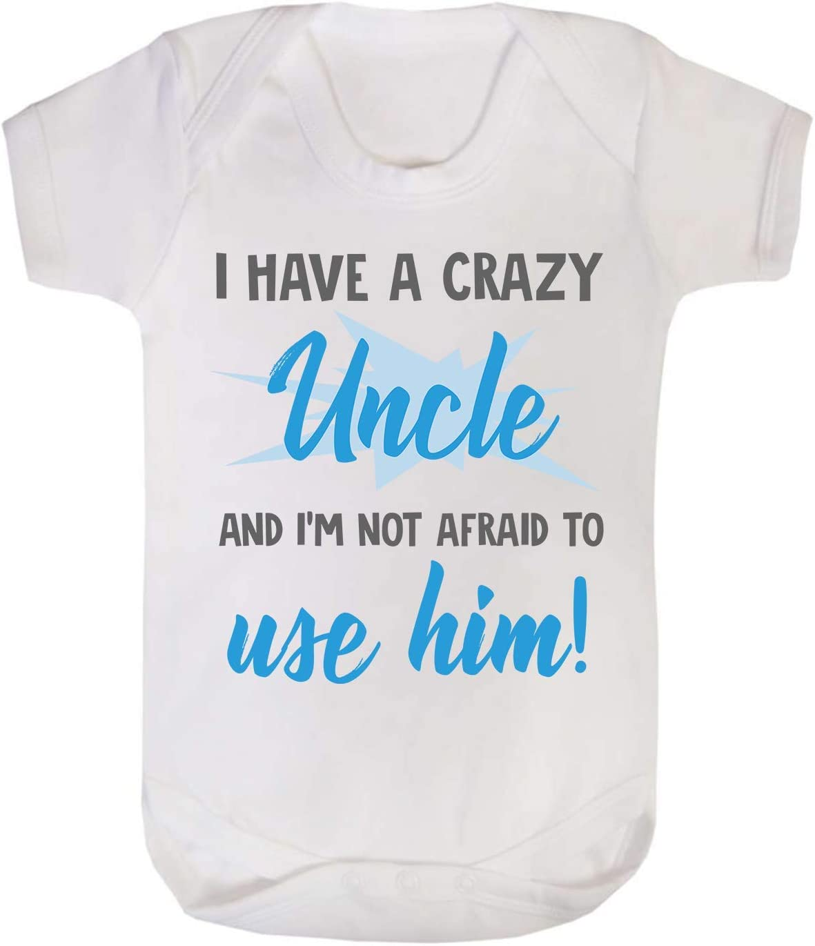 If you think i/'m Handsome Uncle Baby Vest Babygrow Bodysuit Baby Shower Gifts