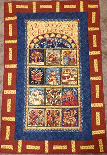 Christmas Wall Hanging, Quilted, Decorated Wall Hanging, 12 Days of Christmas by Sue's  Creating Cottage Quilt Shop