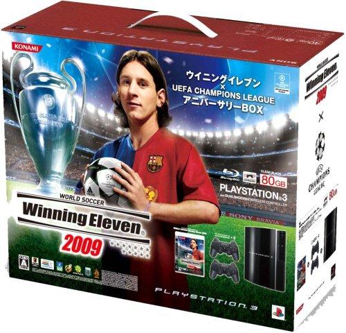 PLAYSTATION 3 (80GB) ウイニングイレブン x UEFA Champions League アニバーサリーBOX (クリアブラック) 【メーカー生産終了】 B001IKJRUK