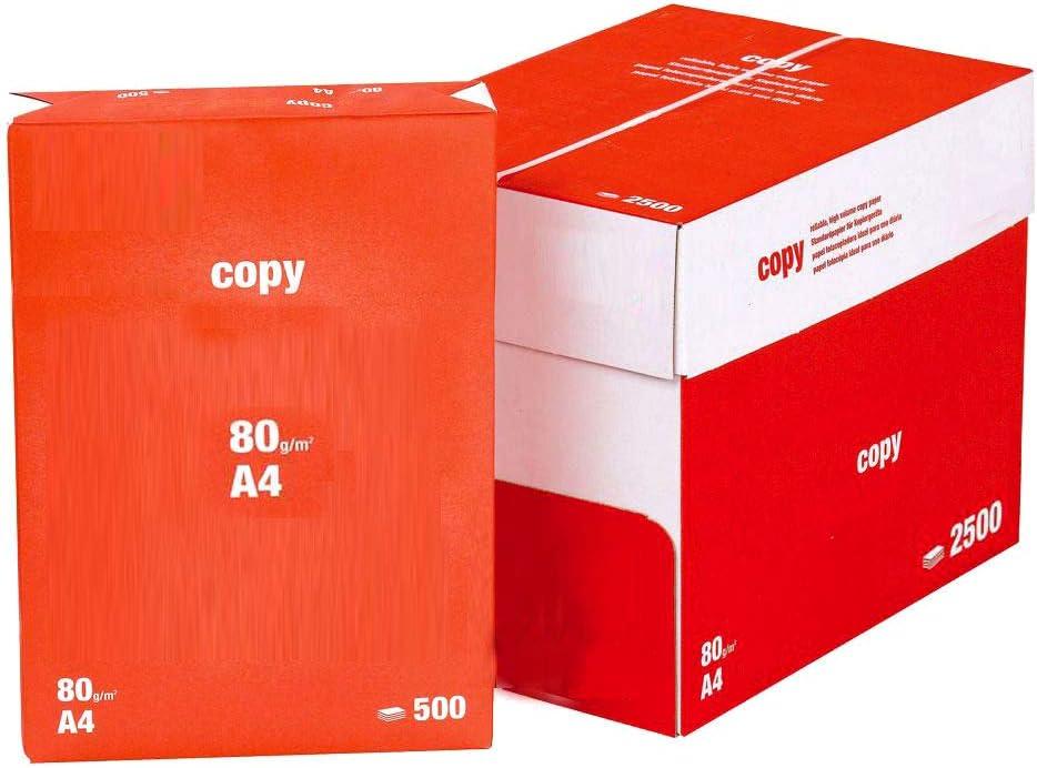 Pack 2500 Folios Papel A4 80gr Blanco. Valido para todas las impresoras y fotocopiadoras.: Amazon.es: Oficina y papelería