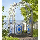 Garden Arbor with Blue-Painted Glass Panes