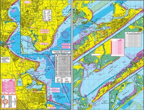 Hook-N-Line Map Galveston Water Proof Wade Fishing Chart