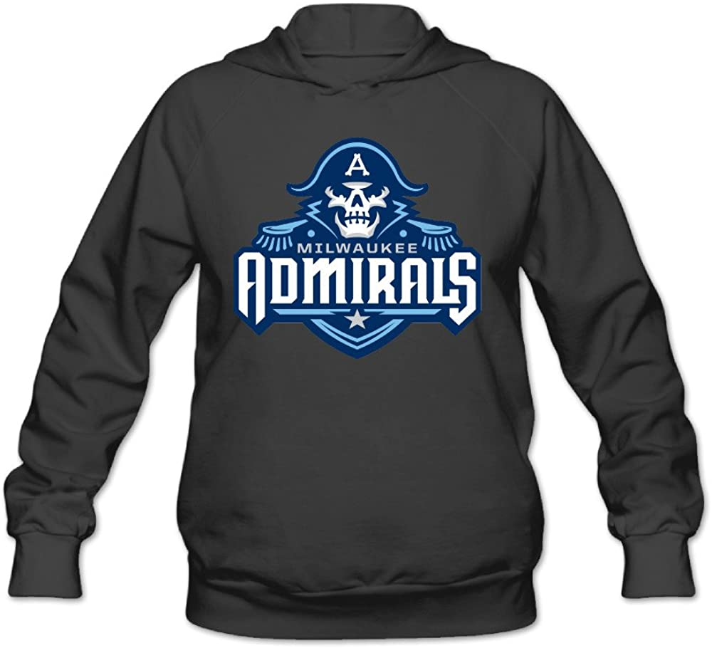 POOZ Women's Milwaukee Admirals A Skull Logo Sweatshirt Black