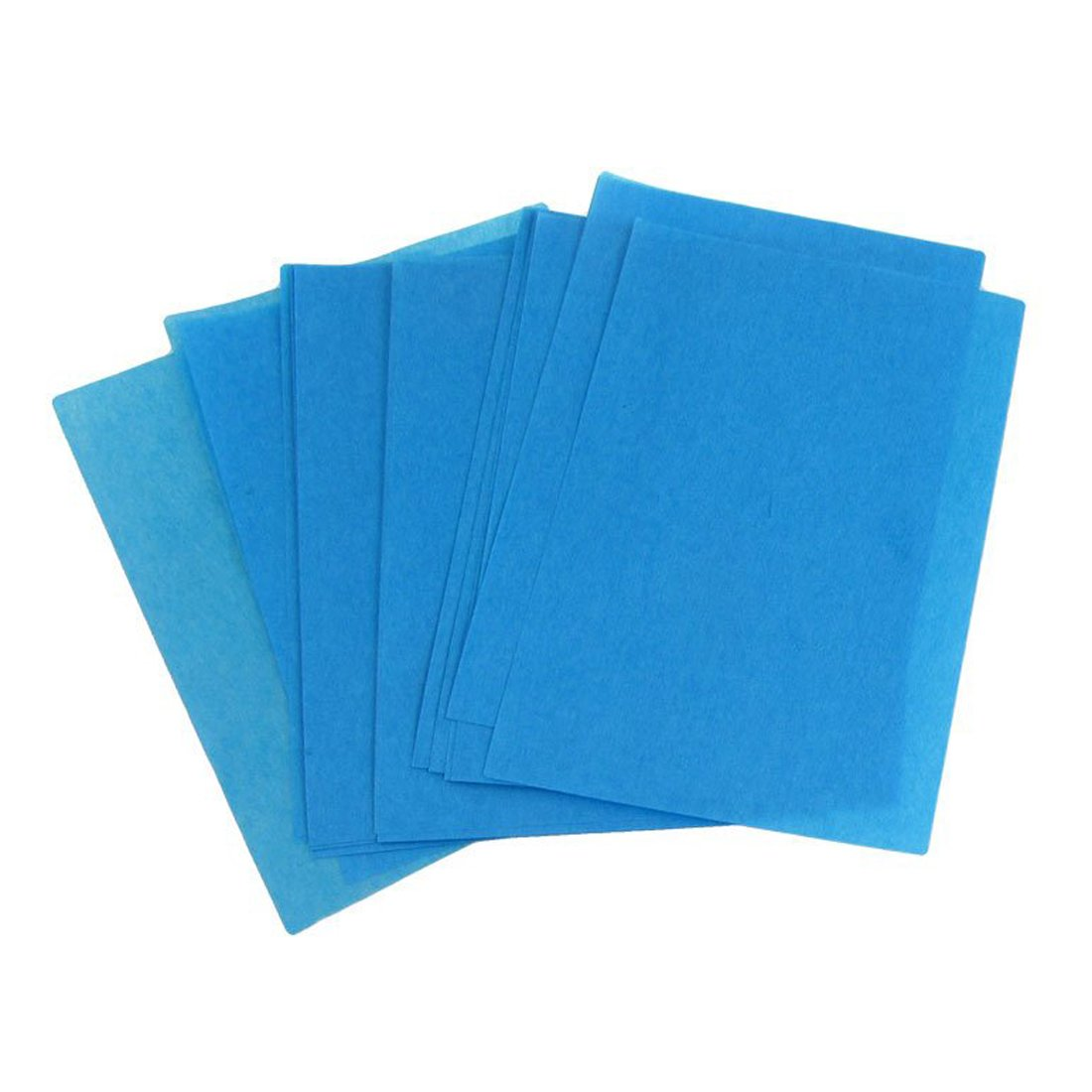 SODIAL(R) 80 Pcs Blotting Paper Oil Absorbing Sheets Blue 042853